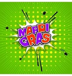 Lettering Mardi Gras green vector image