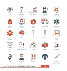 Medical and Health Care Icons Set 02 vector image