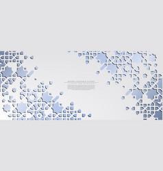 Modern arabesque hexagonal cold pattern arabic vector