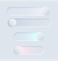 Newmorph ui switch light set vector