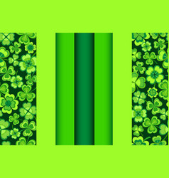 patrick day seamless pattern with shamrock vector image