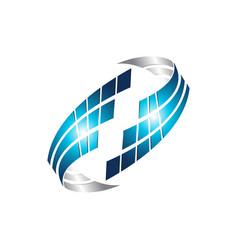 Pixel technology data concept logo template vector