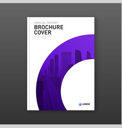 Real estate report brochure cover design layout vector