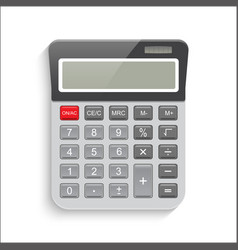 realistic calculator isolated on white background vector image