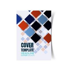 Report cover design vector