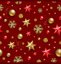 seamless pattern christmas background vector image