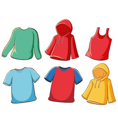 Set isolated shirts vector