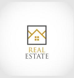 simple real estate logo symbol vector image