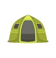 Small Green Bright Color Tarpaulin Tent vector image