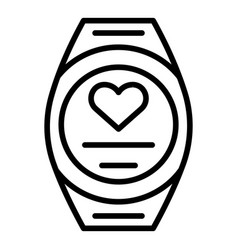 Smartwatch icon outline style vector