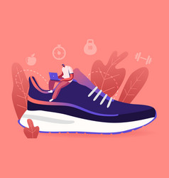 sportswear and smart shoes for training concept vector image