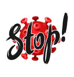 stop covid19-19 background with coronavirus vector image