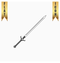 sword flat icon vector image