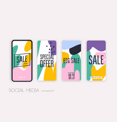 template for social networks stories vector image