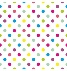 Tile polka dots background pattern or wallpaper vector
