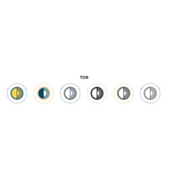 Tor icon in filled thin line outline and stroke vector