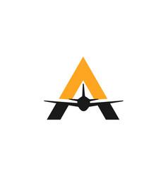 travel logo template design vector image