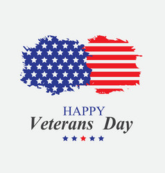 Veterans day in america vector