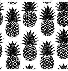 Vintage pineapple seamless vector