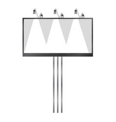 white blank billboard mockup realistic style vector image