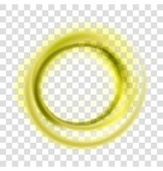 Yellow circle vector image