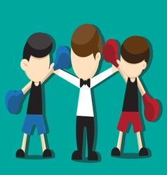 boxing cartoon vector image vector image