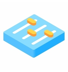 Equalizer button isometric 3d icon vector image