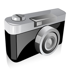 Vintage photo camera vector image vector image