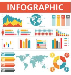 demographic infographics set vector image vector image