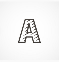 letter a logo icon design template elements vector image