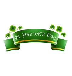 A green symbol for St Patricks Day vector image vector image