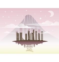 Beautiful Japan Travel Landmarks vector image vector image