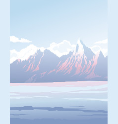 landscape with mountains vector image vector image
