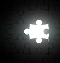 missing piece of the puzzle vector image