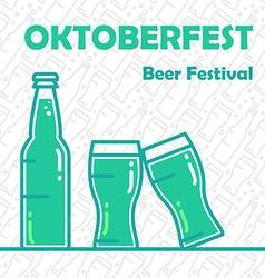 Oktoberfest Beer Banner vector image vector image