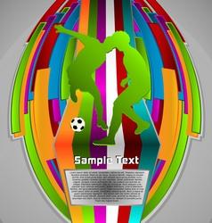 summer sport design series soccer theme vector image