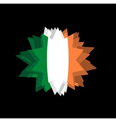 flag of Ireland Pointed star Abstract flag of vector image vector image