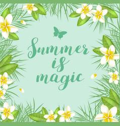 Green summer tropical background vector