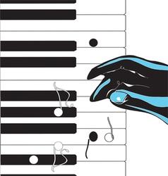 hand playing pianoVS vector image vector image