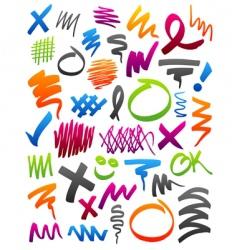 marker scribbles vector image