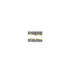 Race background Checkered black and white vector image