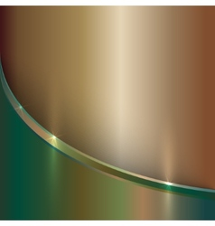 abstract precious old metal background with curve vector image