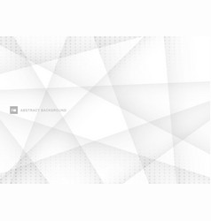 abstract white and gray polygon background vector image