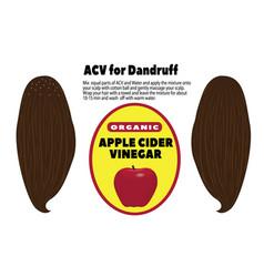 Acv for dandruff vector