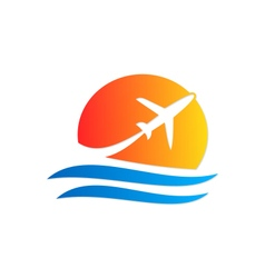 Airplane travel logo vector