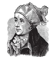 An english poet william cowper vintage engraving vector
