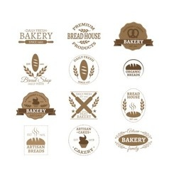 Bakery badge logo vector