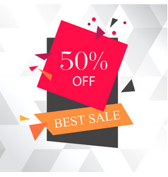 Best sale 50 off white background image vector