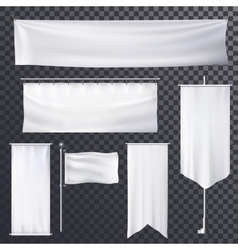 Blank poster or banner hanging frame template vector