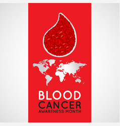 Blood cancer awareness month logo icon vector